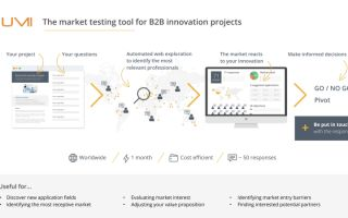 Market testing tool for B2B innovation projects