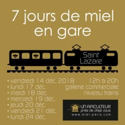 Miel en gare Saint Lazare