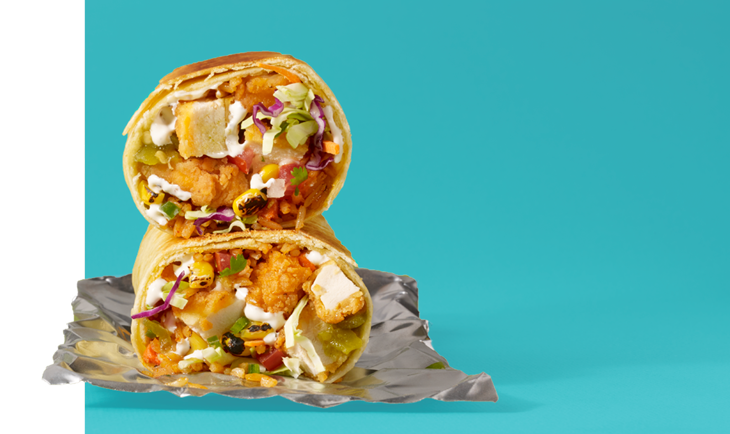 Fried Chicken Picnic Burrito