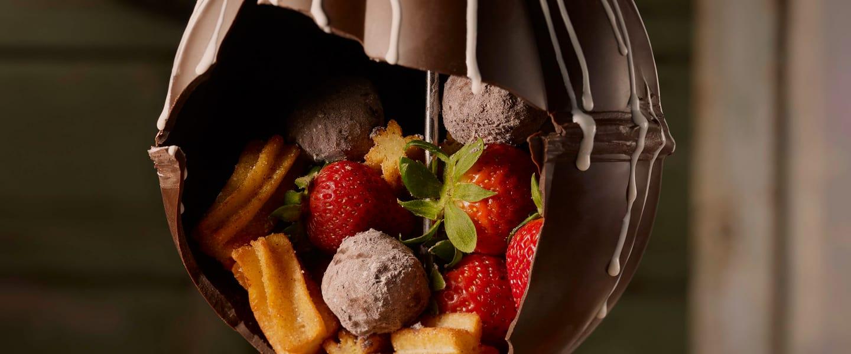 Chocolate Lover's Chocolate Piñata Dessert
