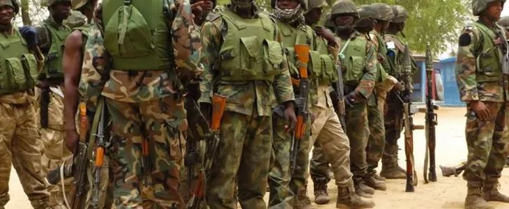 Nigerian Soldiers with AK-47