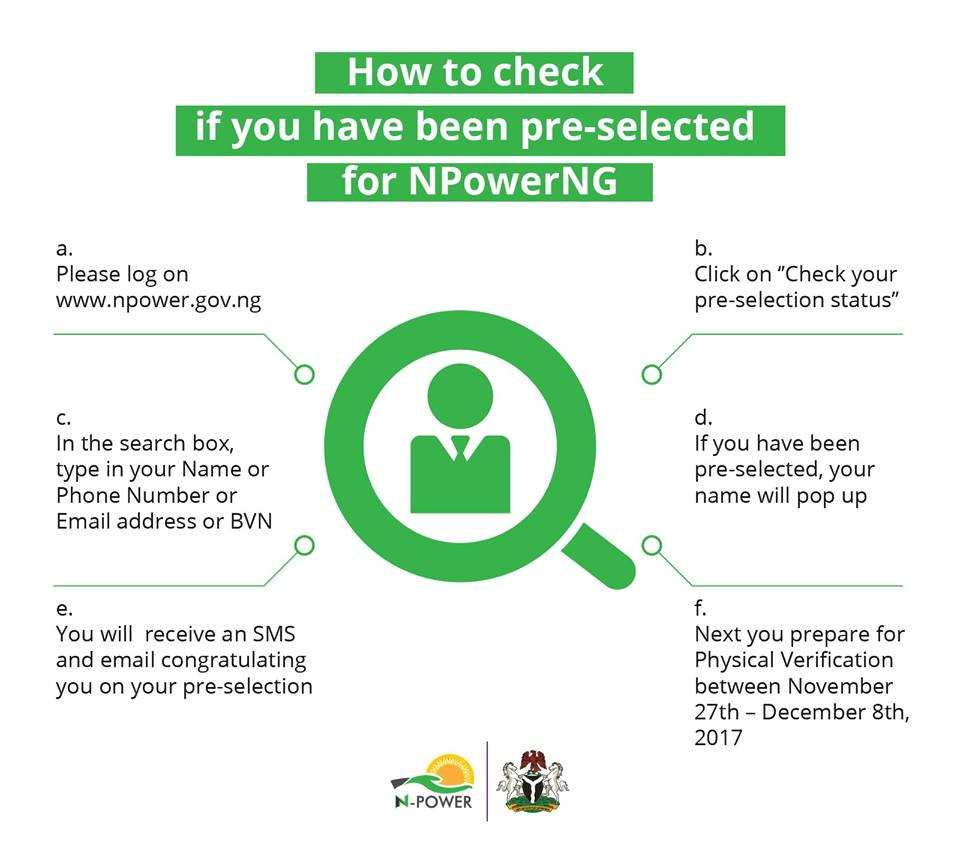 How to Check NPower 2017 Pre-Selection Status