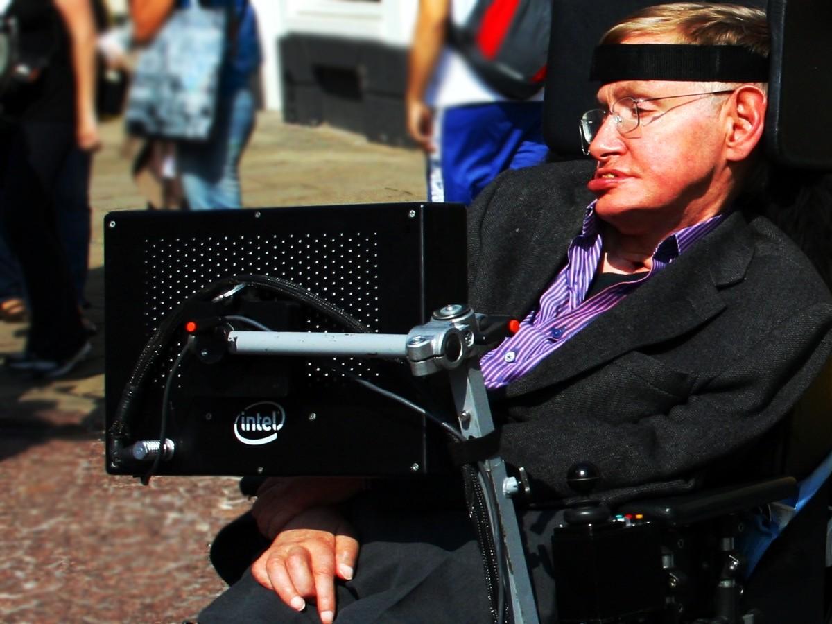 Stephen Hawking in Cambridge 2008
