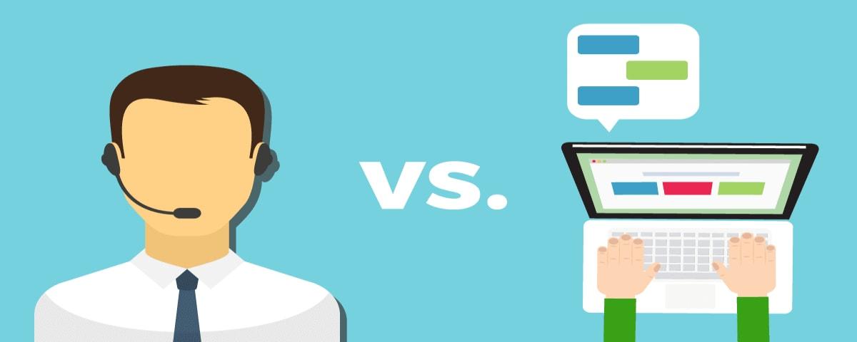 Live chat versus Live Voice