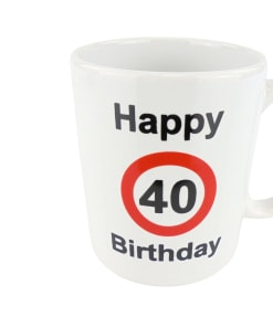 "Tasse ""Happy Birthday"", 40. Geburtstag"