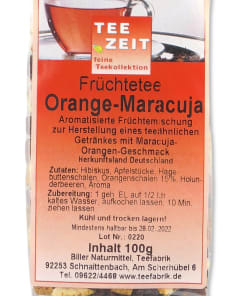 "Früchtetee ""Orange-Maracuja"""
