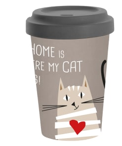 """Babmus To-Go Becher """"Home is where my cat is!"""""""