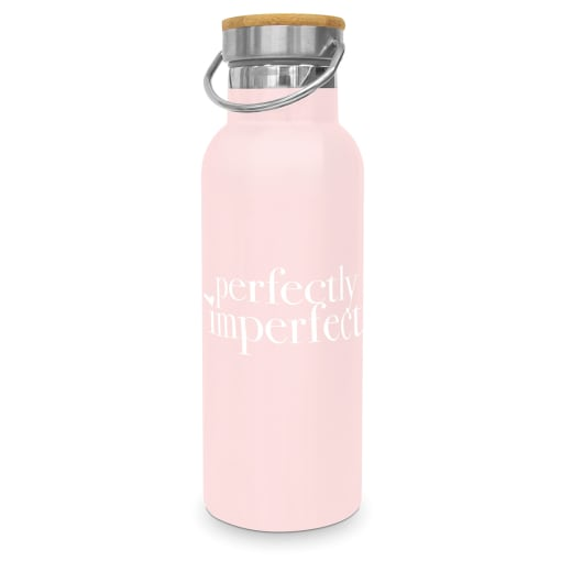 """Edelstahlflasche in rosa """"Perfectly Imperfect"""""""