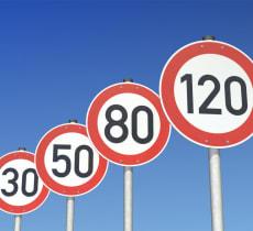Ограничение скорости в разных странах Европы