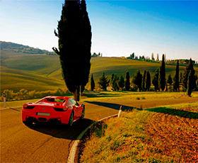Флоренция и Тоскана за рулем Ferrari