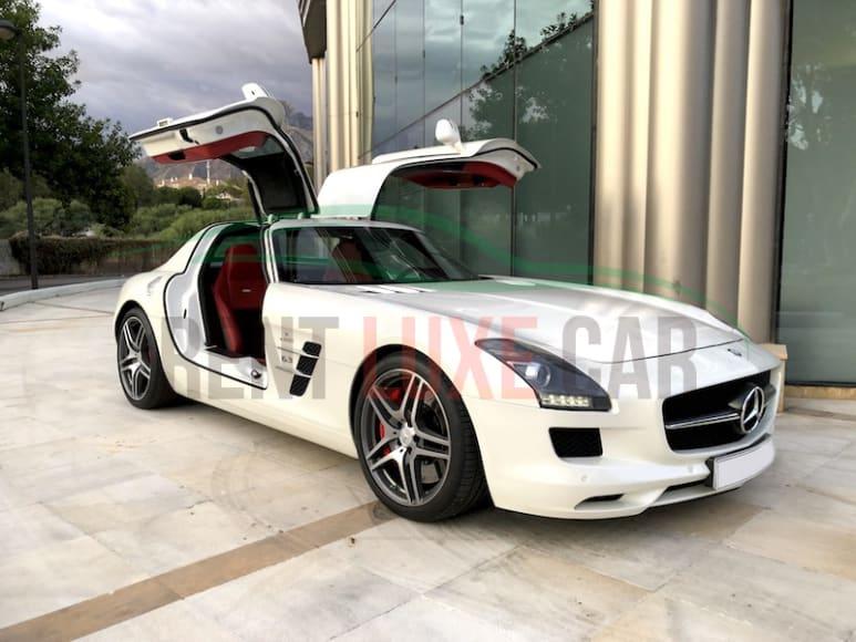 Rent Mercedes SLS in Nice