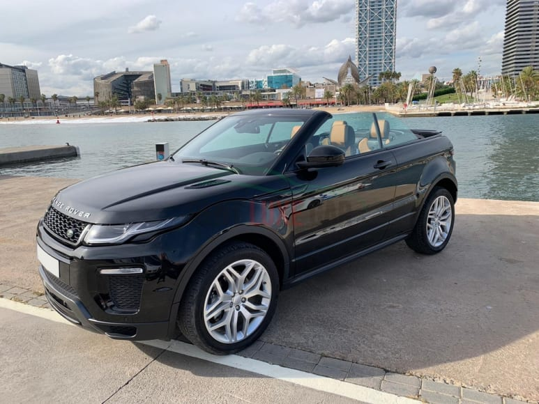 Rent Range Rover Evoque Cabrio in Frankfurt