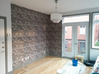Brickwork Pewter Exposed Brick Texture Wallpaper picture 1