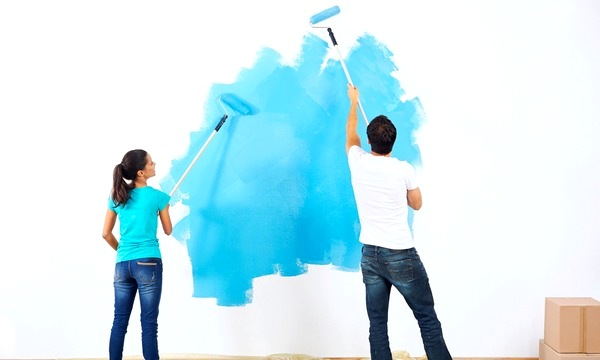 Eco-friendly painting at home