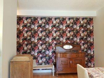 Papier peint vintage - Tapisserie floral - Les pivoines, les roses et les jasmins photo 1