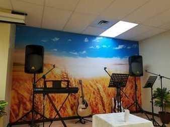 Sticker wallpaper farm wheat field picture 1