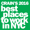 Crains 2016 Best Places to Work in NYC Logo