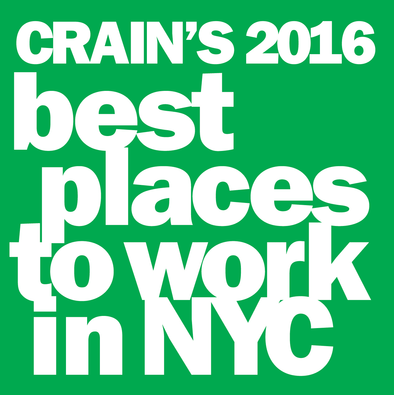 Crain's Best Places to Work in NYC 2016