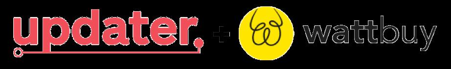 Updater + Wattbuy logos