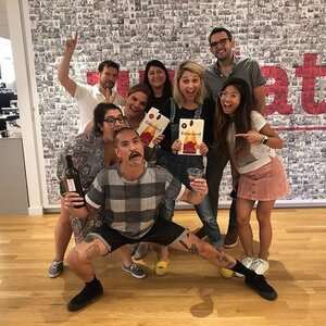 Everyone's favorite book club got together last night to chat about Educated by Tara Westover. Lots of laughs, wine and cheese were had by all. 🍷🧀📚 #updater #updaterlife #tech #nyctech #nyc #bookclub #educated #tarawestovereducated #workperk #joblove