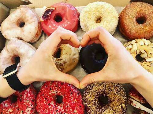 Nothing says love like @doughdoughnuts... Happy Valentine's Day! ❤️🍩