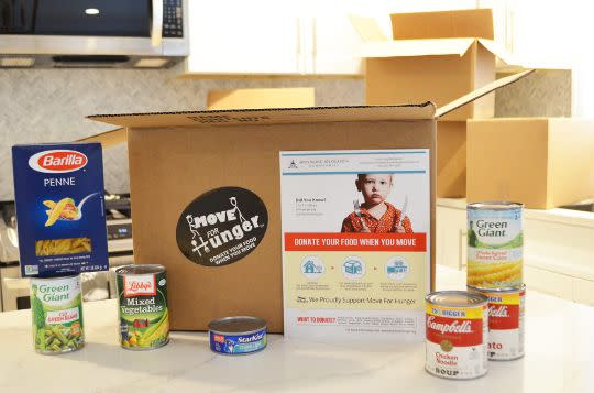 Donate Food - Choose a Moving Company that Partners with Move For Hunger