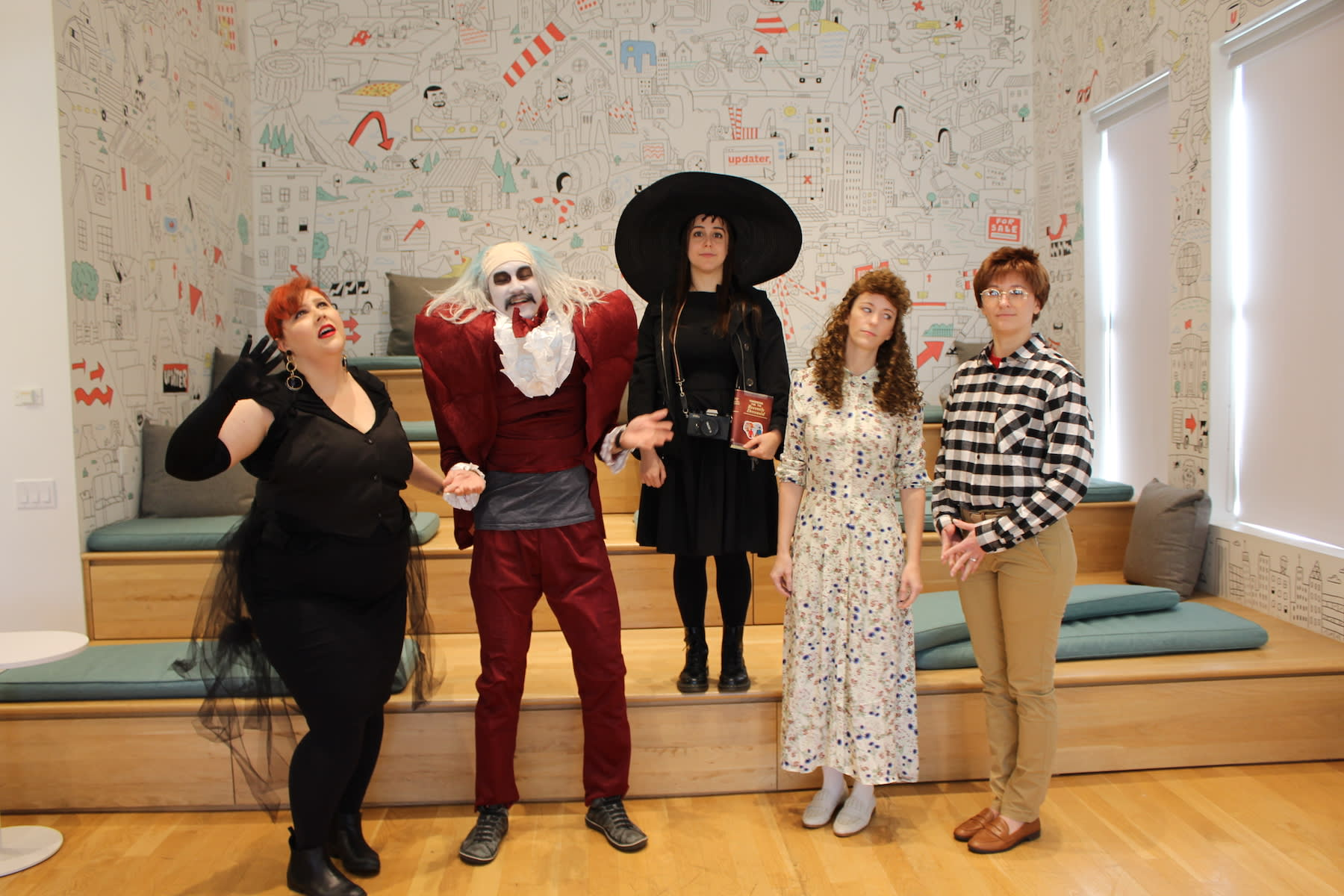 October at Updater: Office Library Launch, Tech Off-Site, and Halloween!