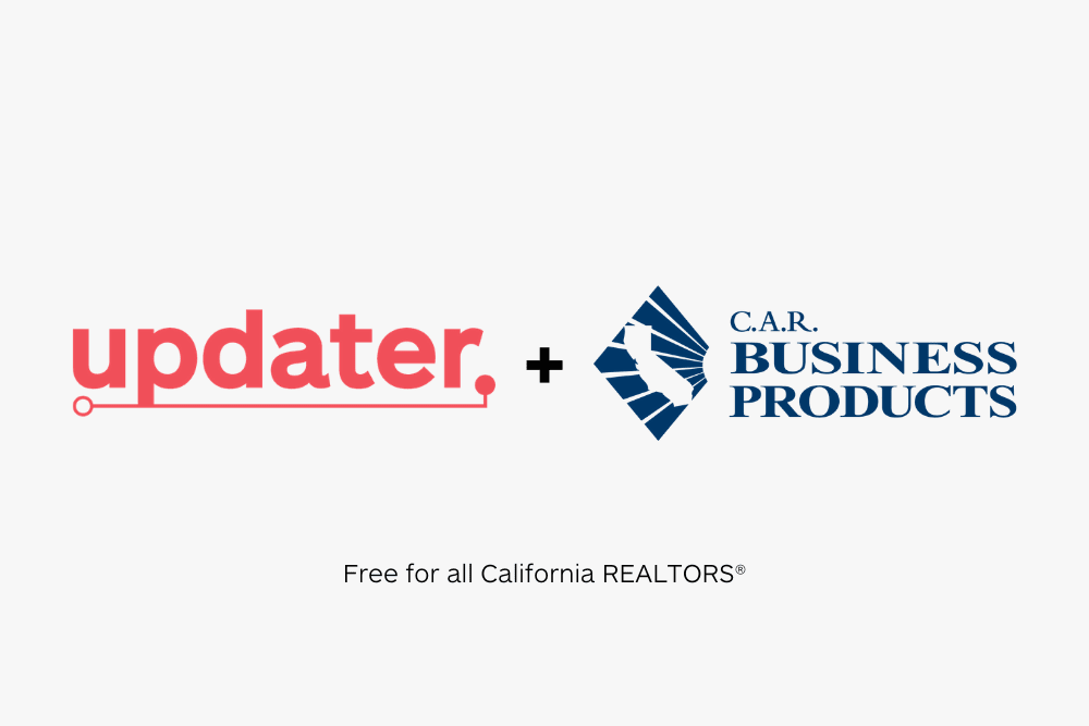 Updater Joins California Association of REALTORS® as Business Product Partner