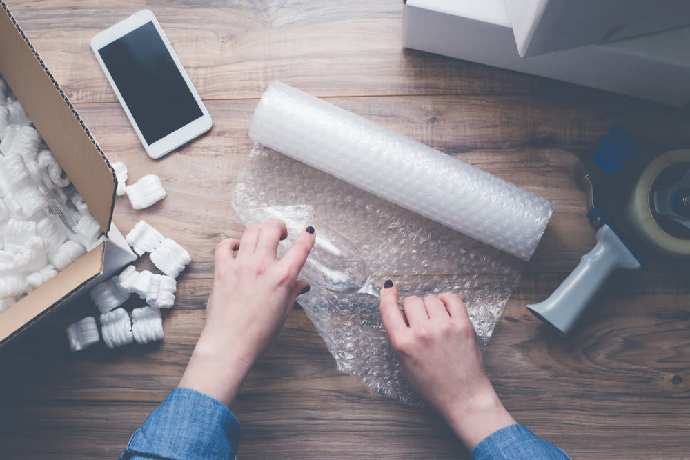 bubblewrap glass - common moving mistakes