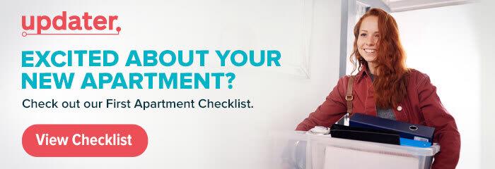 First Apartment Checklist Ad