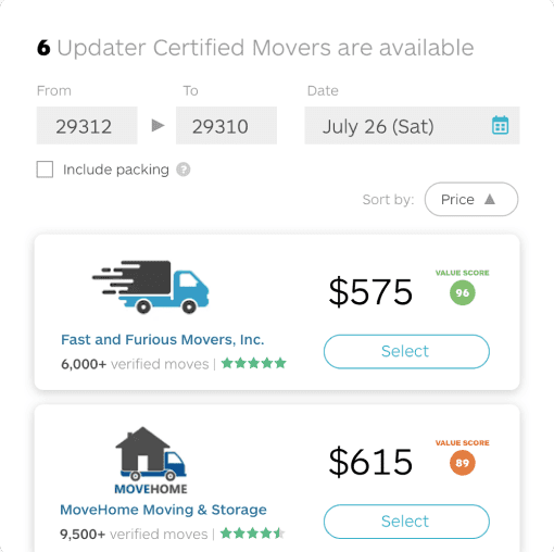 App feature - Be prepared for moving day