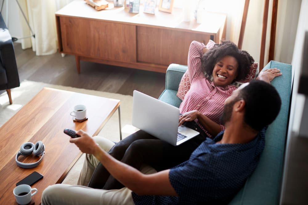 Couples should plan ahead to consolidate TV and Internet services when moving in together.