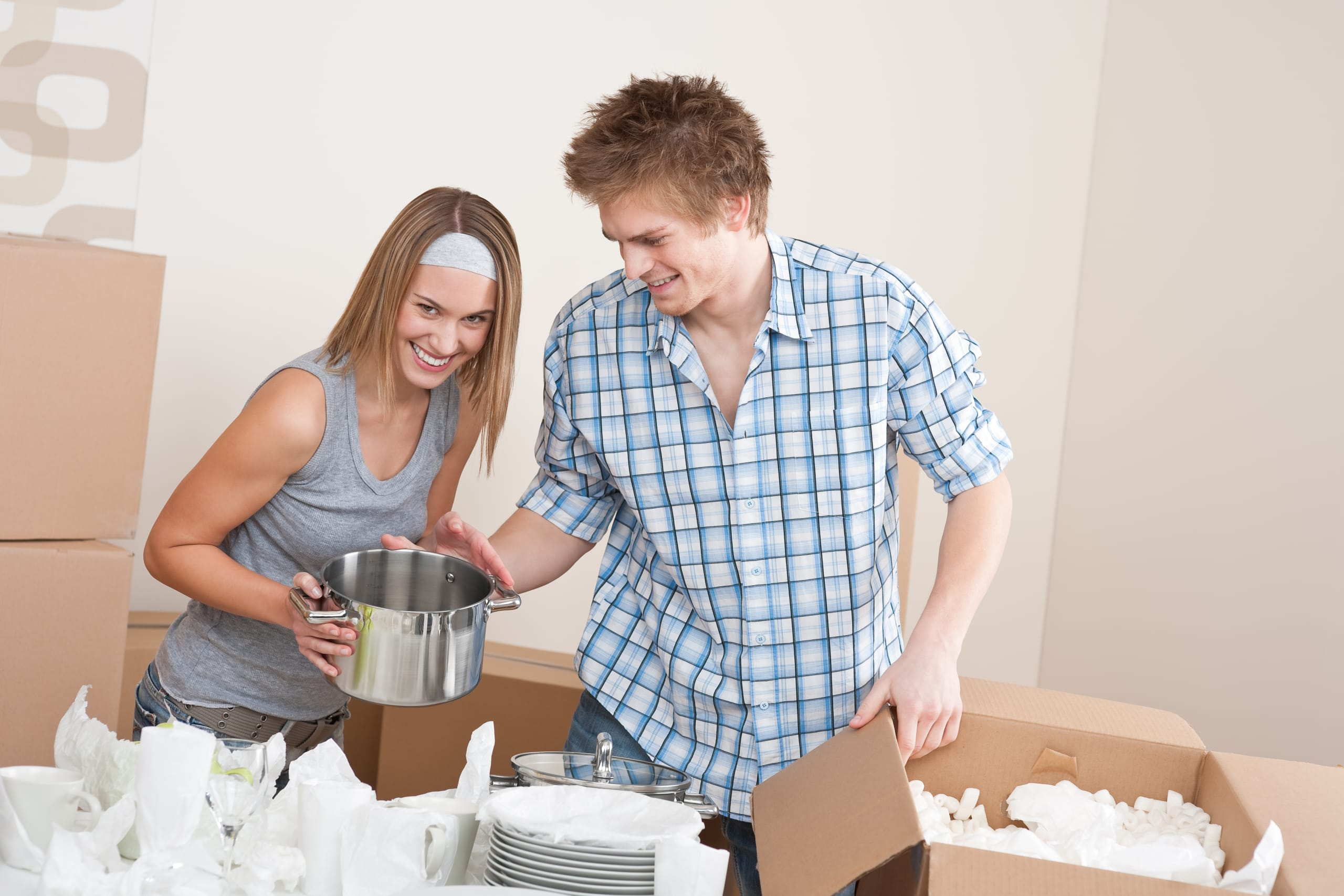 how to pack kitchen items
