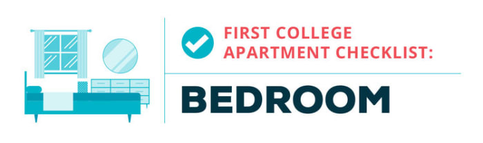 college apartment checklist--bedroom