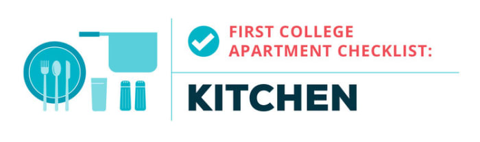 college apartment checklist--kitchen