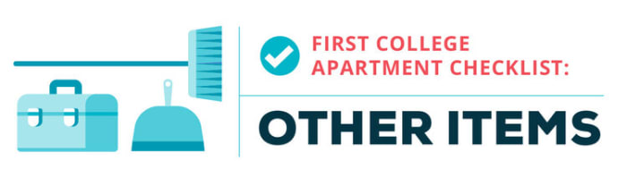 college apartment checklist--other items
