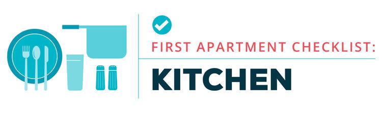 first apartment checklist -- kitchen