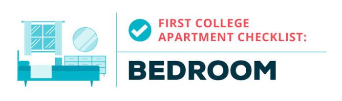college apartment checklist--bedroom