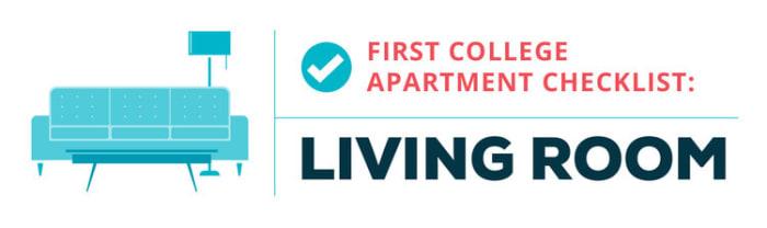 college apartment checklist--living space