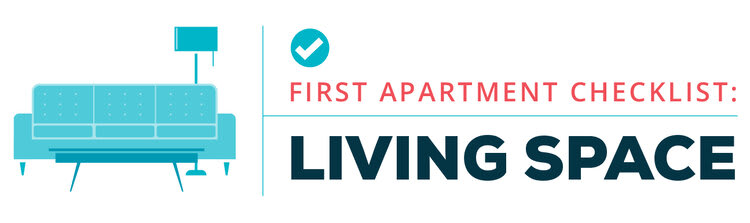 first apartment checklist - living space