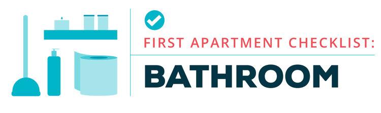 first apartment checklist --bathroom