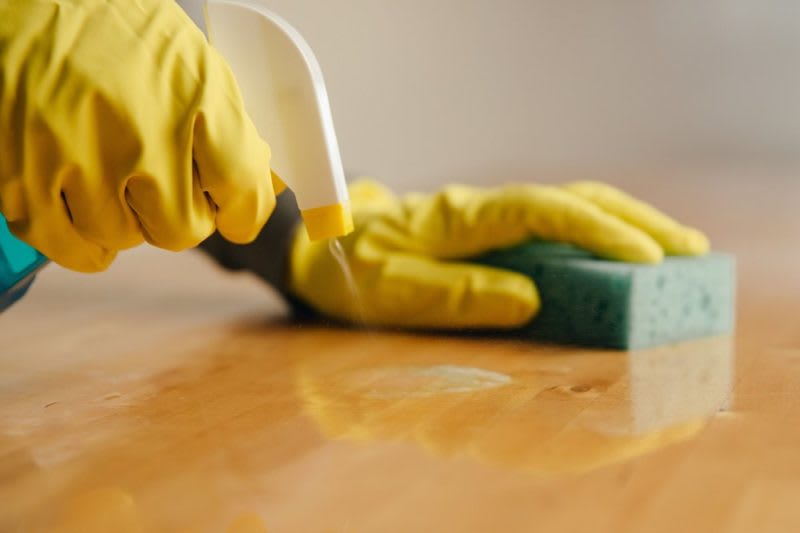 disinfect surface areas