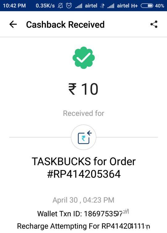 TaskBucks App Proof