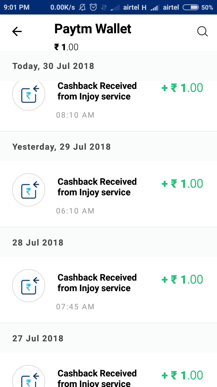 Injoy payment proof