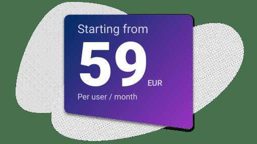 Upsales costs 59 euro per month
