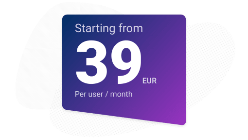 Upsales costs 39 euro per month