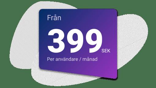 Upsales kostar 399 sek per månad