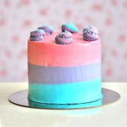 Top Swirl TRI-Colour Cake | Buy Cakes Dubai
