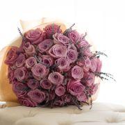 Simple Sophistication   Premium pink Roses, Lavender