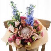 Protea, Roses, Delphinium, Matthiola   Buy Flowers in Dubai UAE   Gifts   Cakes